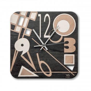 """Ves Design Orologio da parete in legno dal design moderno """"Kandinsky"""" Istanti     L05R04"""