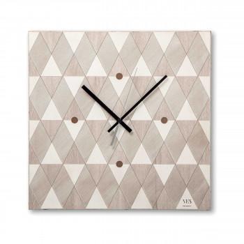 """Ves Design Orologio da parete in legno dal design moderno per salotto """"Vichy Stella"""" Istanti     L05R03"""