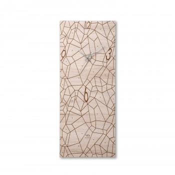 """Ves Design Orologio da parete rettangolare in legno dal design moderno """"Tracciati"""" Istanti     L05R19"""