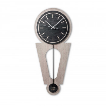 """Ves Design Orologio da parete in legno dal design moderno per salotto """"Swing"""" Istanti     L05P"""