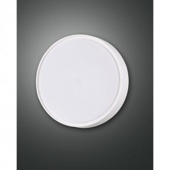 Fabas Luce Plafoniera piccola da esterno con sensore di movimento con lampada a LED Hatton Bianco Lumen 1300 3000k Luce Calda  3224-61-102