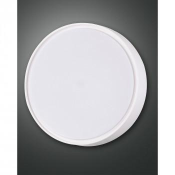 Fabas Luce Plafoniera grande da esterno con sensore di movimento con lampada a LED Hatton Bianco Lumen 2400 3000k Luce Calda  3224-65-102