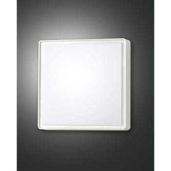 Fabas Luce Plafoniera piccola moderna con sensore di movimento da esterno Oban Bianco    3225-61-102