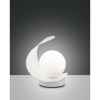 Fabas Luce Abatjour a LED con struttura in metallo e paralume in vetro dal design moderno Adria  Lumen 540 3000k Luce Calda  3414-30