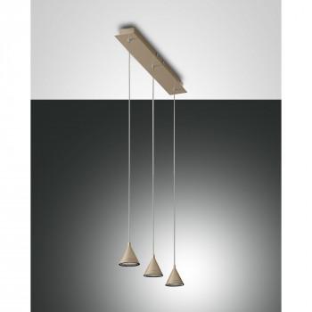 Fabas Luce Lampada a sospensione a 3 luci LED con struttura in metallo dal design moderno Delta  Lumen 2160 3000k Luce Calda  3443-47