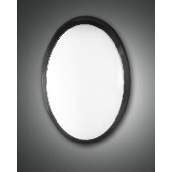 Fabas Luce Applique da parete per esterno a LED moderna con diffusore in policarbonato Preston Nero Lumen 1300 3000k Luce Calda  6695-02-964