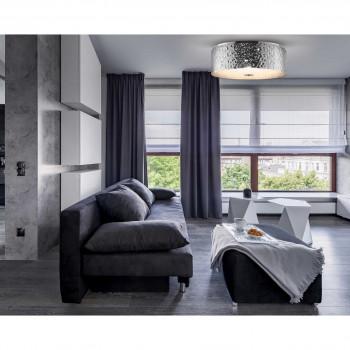 Maytoni Lampada da soffitto grande in metallo in stile moderno con 5 luci Ripple Cromato    MOD096CL-05CH