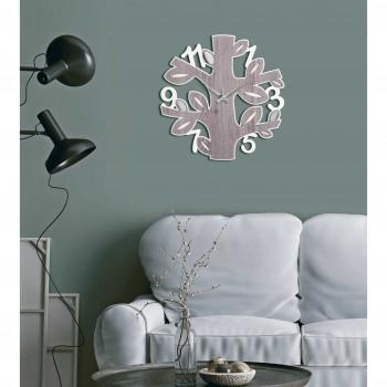 Bongelli Preziosi Orologio da parete rotondo pannello in legno con albero della vita