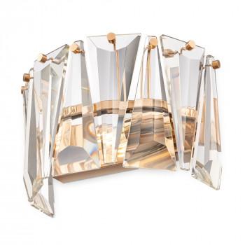 Maytoni Applique da parete moderna con diffusore in vetro a semi cerchio Puntes Oro    MOD043WL-01G