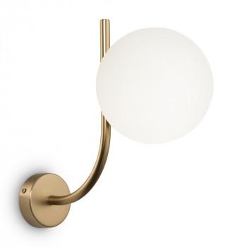 Maytoni Applique da parete con diffusore in vetro a boccia in stile moderno Rendez-vous Ottone    MOD109WL-01BS