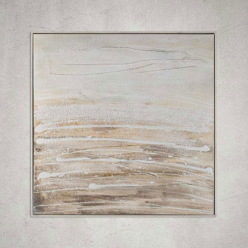 Agave Quadro moderno Mare in tela 100x100 Sand