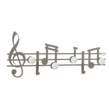 Arti e Mestieri Appendiabiti da parete con decoro note musicali Musica