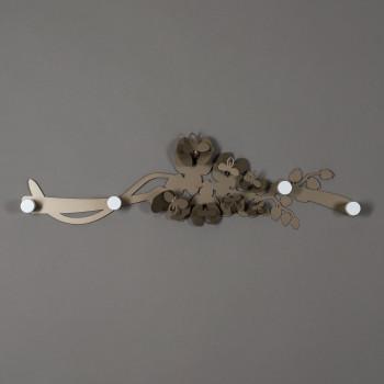 Arti e Mestieri Attaccapanni da parete Moderno in ferro Orchidea