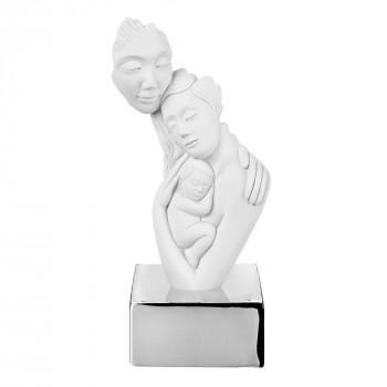 Bongelli Preziosi Scultura da tavolo in marmorino con base con la famiglia abbracciata      ME2075
