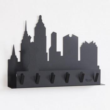 Arti e Mestieri Portachiavi da parete con portaposta in metallo New York