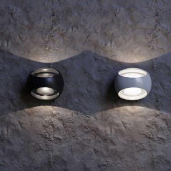 Maytoni Applique da parete a LED per esterno dal design moderno con diffusore rotondo Stream  Lumen 350 3000k Luce Calda  O032WL-L6