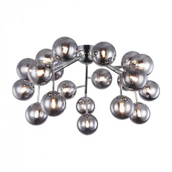 Maytoni Lampadario da soffitto con bocce in vetro soffiato dalle linee moderne Dallas Cromato    MOD545PL-20CH