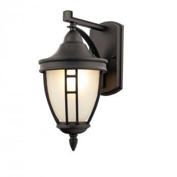 Maytoni Illuminazione da parete per esterno con diffusore in vetro dal design moderno Rivoli Nero    O027WL-01B
