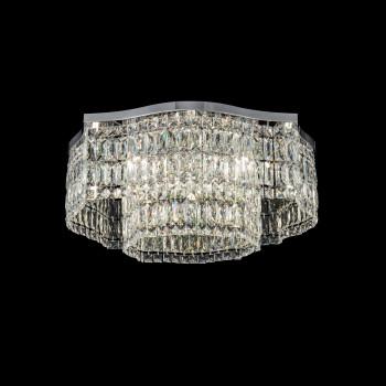 Maytoni Lampadario da soffitto grande in stile classico in metallo con pendenti in vetro Dune Trasparente    DIA005CL-10CH