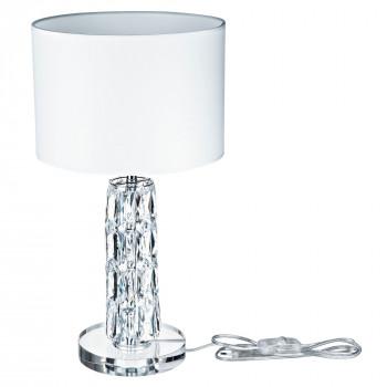 Maytoni Lampada da tavolo classica con dettagli in vetro e paralume in PVC Talento Cromato    DIA008TL-01CH