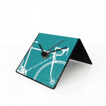 """Design Object Orologio da tavolo o scrivania in metallo calendario e magneti sul retro """"BIKE"""""""