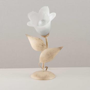 Be Light Lampada da tavolo con struttura linee classiche in metallo e diffusore in vetro Olga     BL155-LT