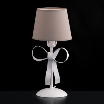 Bonetti Illumina Abat-jour moderna in metallo con decorazione shabby con paralumi in pvc Lucy Bianco    BL184-LT