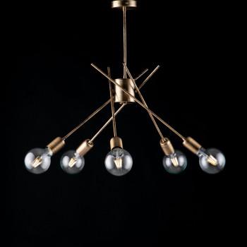 Bonetti Illumina Plafoniera moderna in metallo bronzato spazzolato 5 luci Polish Bronzo    BL186-PL5