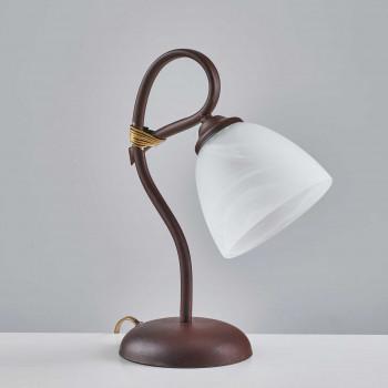 Be Light Lampada da comodino classica con struttura in metallo e paralumi in vetro Dallas     BL217-LT