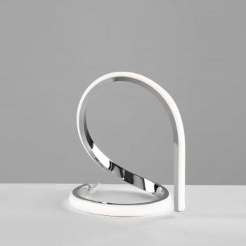 Be Light Lampada da comodino a LED con struttura in alluminio dalle linee moderne Infinity Cromato Lumen 720 4000k Luce Naturale  BL239-LCR