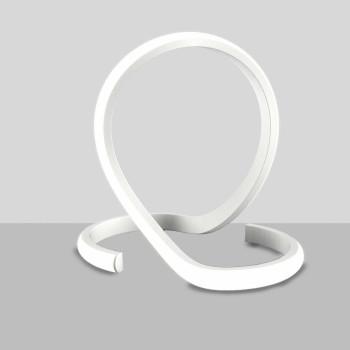 Be Light Lampada da comodino a LED con struttura in alluminio dalle linee moderne Noodles Bianco Lumen 720 4000k Luce Naturale  BL242-LBC