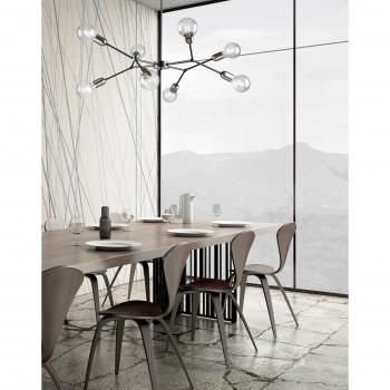 Be Light Lampadario a sospensione grande con struttura in metallo dalle linee moderne Hex     BL254-PL8