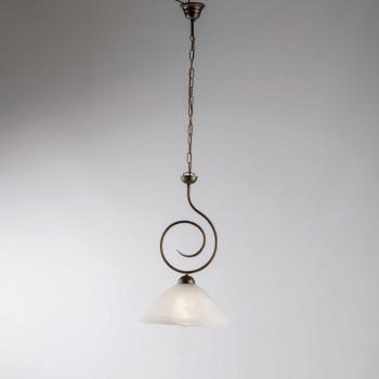 Be Light Lampada a sospensione singola con paralume in vetro dalle linee classiche Milly     BL255-1
