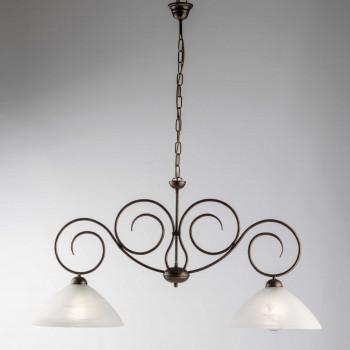 Be Light Lampada a sospensione piccola con paralume in vetro dalle linee classiche Milly     BL255-2