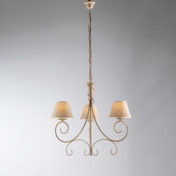 Be Light Lampada a sospensione piccola dalle linee classiche con paralumi in tessuto Vienna     BL258-3