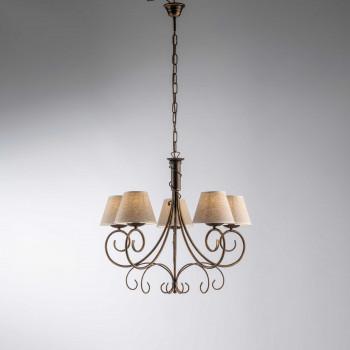 Be Light Lampada a sospensione grande dalle linee classiche con paralumi in tessuto Vienna     BL258-5