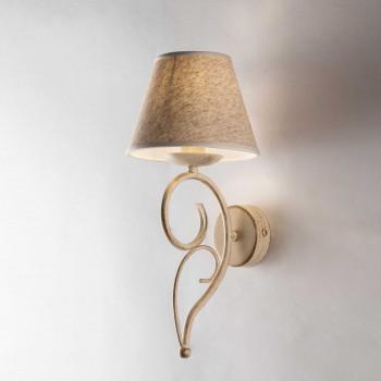 Be Light Applique lampada da parete dalle linee classiche con paralumi in tessuto Vienna     BL258-AP1