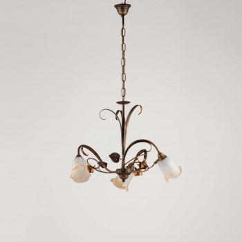 Be Light Lampadario a sospensione piccolo con diffusori in vetro dallo stile classico Cestino     BL26-3
