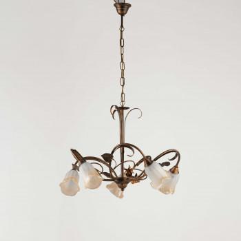 Be Light Lampadario a sospensione grande con diffusori in vetro dallo stile classico Cestino     BL26-5