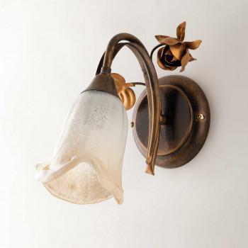 Be Light Applique da parete in metallo con diffusori in vetro dallo stile classico Cestino     BL26-AP1