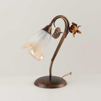 Be Light Lampada da comodino in metallo con diffusore in vetro dallo stile classico Cestino     BL26-LT
