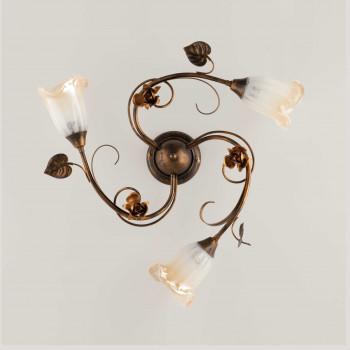 Be Light Plafoniera da soffitto piccola con diffusori in vetro dallo stile classico Cestino     BL26-PL3
