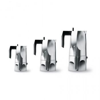 Alessi Caffettiera Moka in alluminio Ossidiana Alluminio    MT18