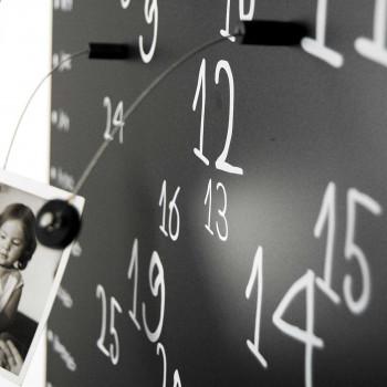 """Design Object Lavagna magnetica con calendario e componenti magnetici calamitati """"KROK 1""""      IT401"""
