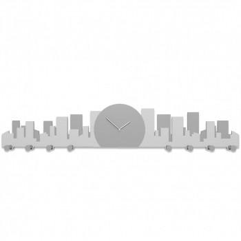 CalleaDesign Orologio da parete con appendiabiti Skyline