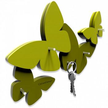 CalleaDesign Portachiavi magnetico da parete in legno Farfalla