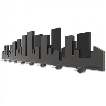 CalleaDesign Portachiavi magnetico da parete in legno Skyline     52-18-1