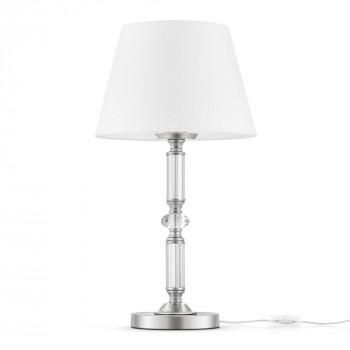 Maytoni Lampada da tavolo con paralume in tessuto e dettagli in vetro Riverside Cromato    MOD018TL-01CH