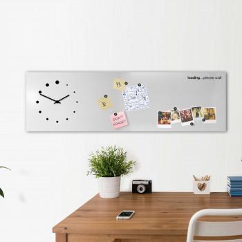 """Design Object Orologio da parete orizzontale con lavagna magnetica e accessori """"LOADING""""      IT618"""