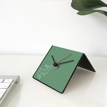 """Design Object Orologio da scrivania per casa o ufficio in metallo dedica sul retro """"CONIGLIO"""" Totem Collection     IT224"""